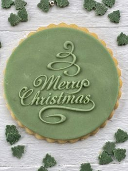 Merry Christmas - PoP UP Fondantstempel -