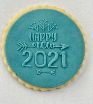 Happy new 2021 - PoP UP -  Fondantstempel -