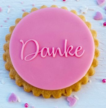 Danke - PoP UP Fondantstempel -