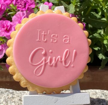 It's a Girl!  PoP UP Fondantstempel
