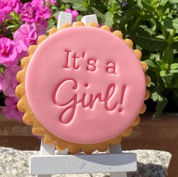 It's a Girl  - Keksstempel / Fondantstempel -