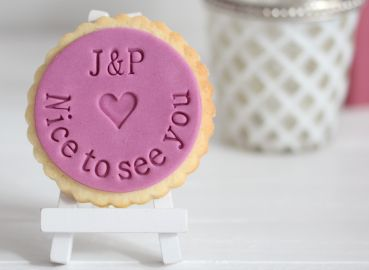 """Nice to see you"" Fondant-/Keksstempel"