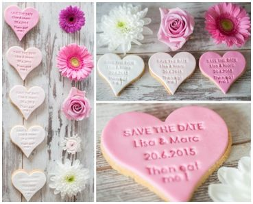 """Save the Date"" - Fondant-/Keksstempel"