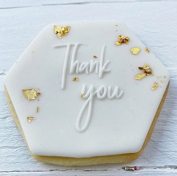 Thank you - PoP UP Fondantstempel -